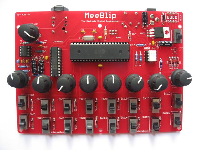 Meeblip PCB Built