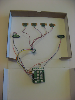 Inside the Theremin style controller box